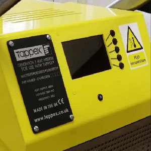 Control of Tappex 3rd generation heat installation machine