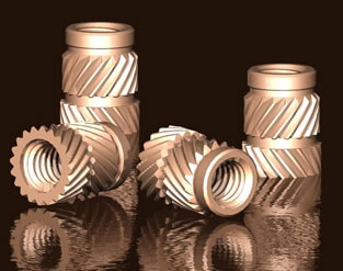 Dedsert® range of threaded inserts, suitable for heat or ultrasonic installation into thermoplastic materials