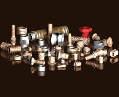 A selection of Tappex threaded inserts for various applications and materials