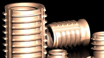 The Tappex brass Trisert threaded insert available in three primary designs – double ended, reduced headed and headed