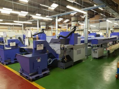 Tappex's CNC shop of sliding lathes for the manufacture of thread inserts