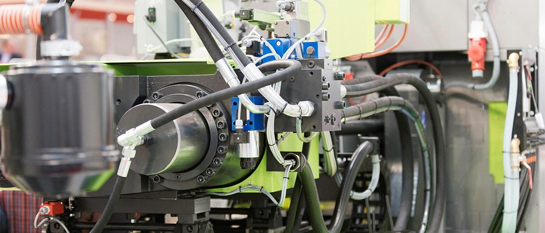 A plastic moulding machine