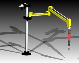 Tappex FlexiArm system for installing threaded inserts