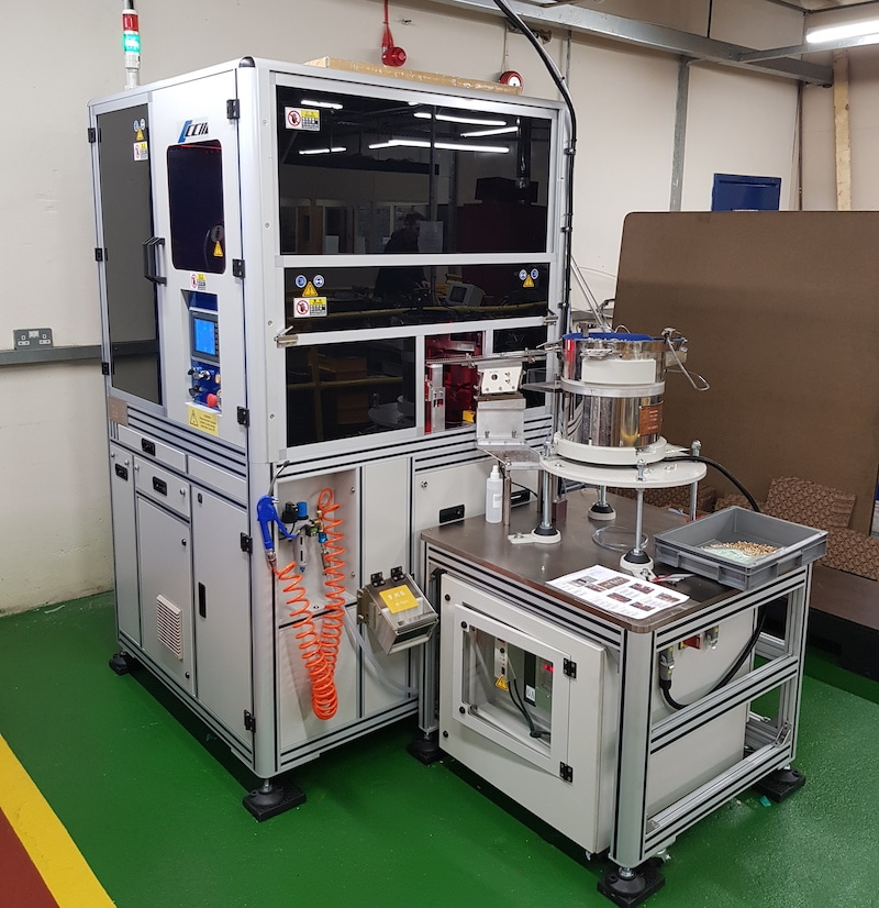 Tappex's multi camera vision sorting machine giving a 360° view of scanned components